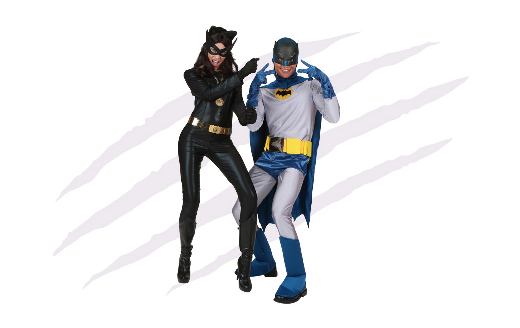 Classic Catwoman and Batman Costumes
