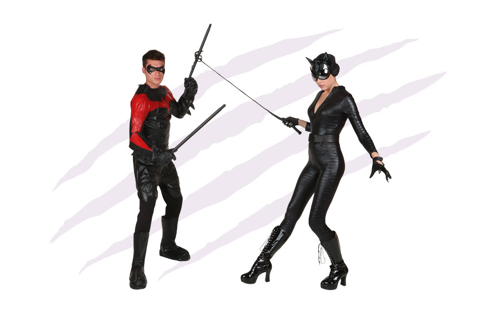 Nightwing and Catwoman Costumes