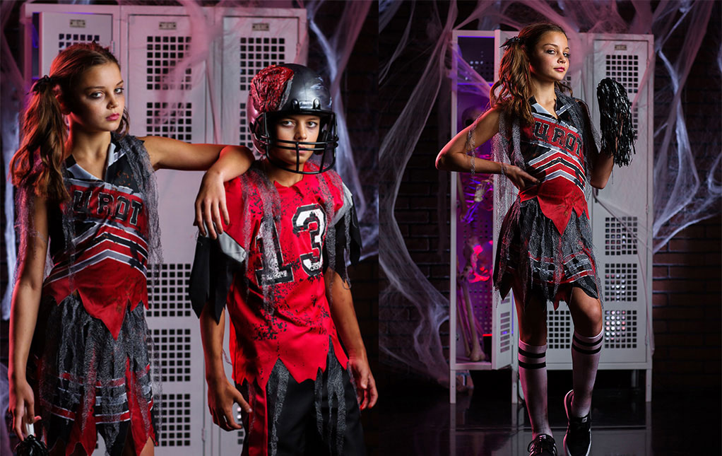 Girls Zombie Cheerleader Costumes