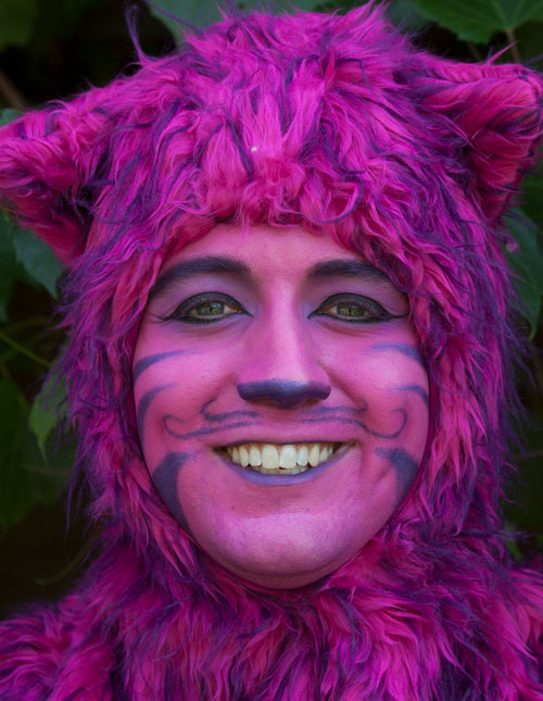 Cheshire Cat Makeup Detail