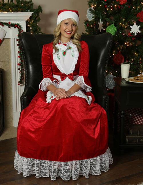 Traditional Mrs. Claus Costume