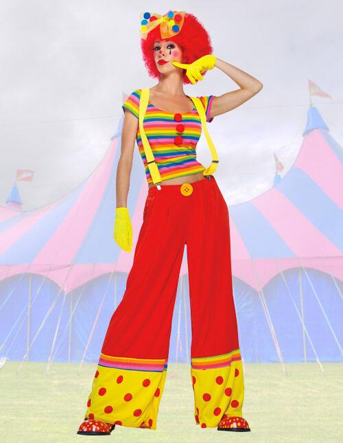 clown costumes adult kids clown halloween costume