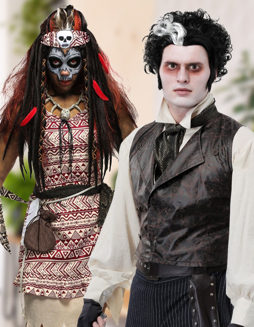 Black Wig Costumes