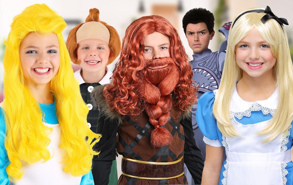 Kid's Halloween Wigs