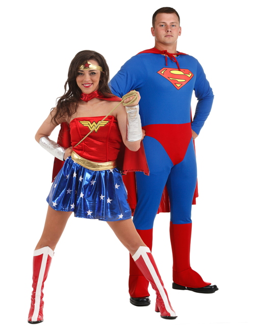 Superman and Wonder Woman Couples Costumes