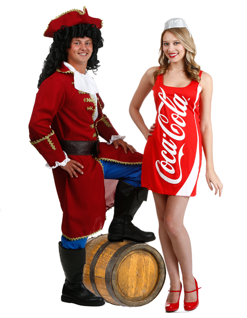 Captain Morgan and Coke Couples Costumes