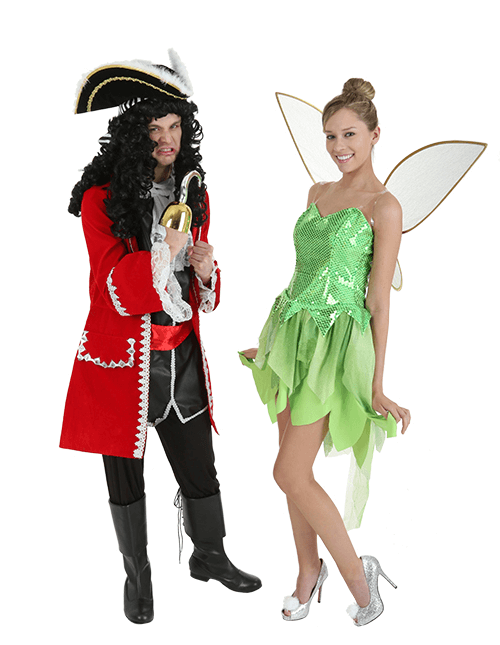 Captain Hook and Tinkerbell Couples Costumes
