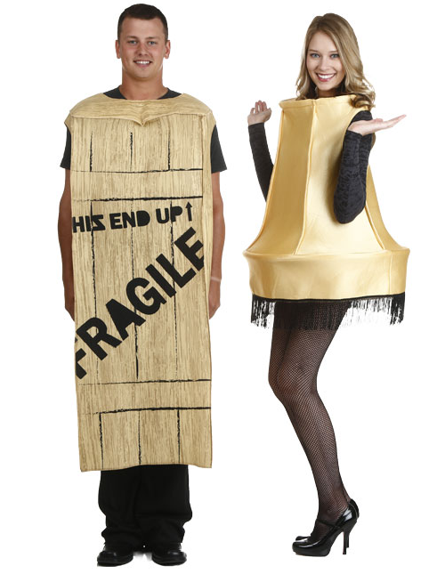 Fragile Box and Leg Lamp Couples Costumes