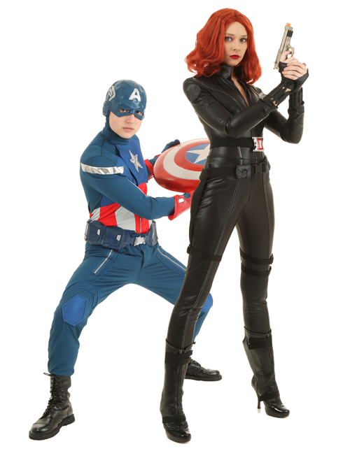 Captain America and Black Widow Couples Costumes