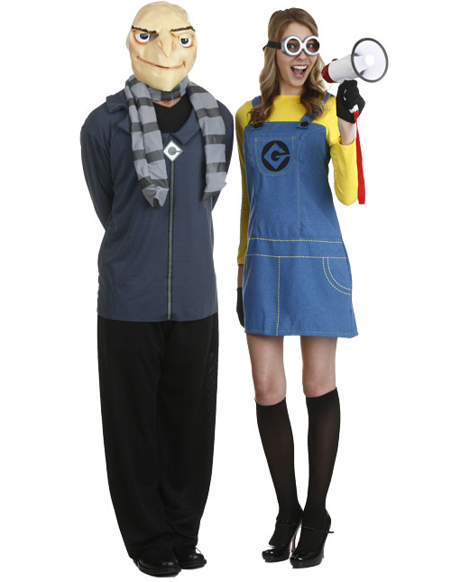 Gru and Minion Couples Costumes  sc 1 st  Halloween Costumes UK : famous movie character couples costumes  - Germanpascual.Com