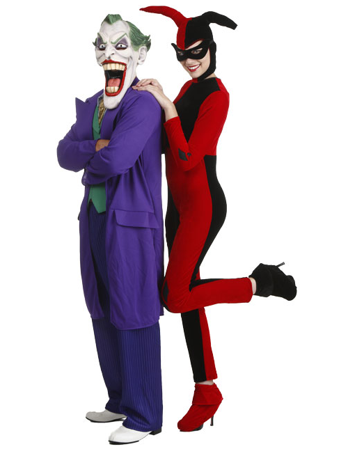 Joker and Harley Quinn Couples Costumes  sc 1 st  Halloween Costumes : halloween costumes in pairs  - Germanpascual.Com