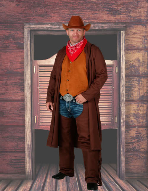 NEW 1 Pair Adult One Size Western Cowboy Halloween Costume Brown Boots Cover
