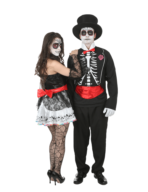 Look Behind You Day of the Dead Couples Costumes