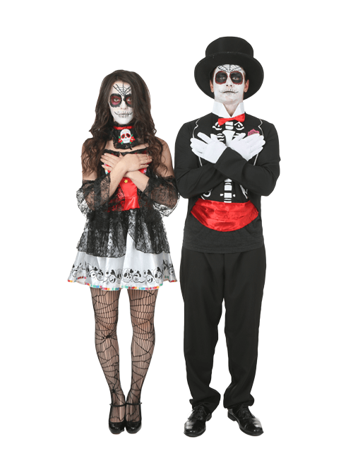 Coffin Ready Day of the Dead Couples Costumes