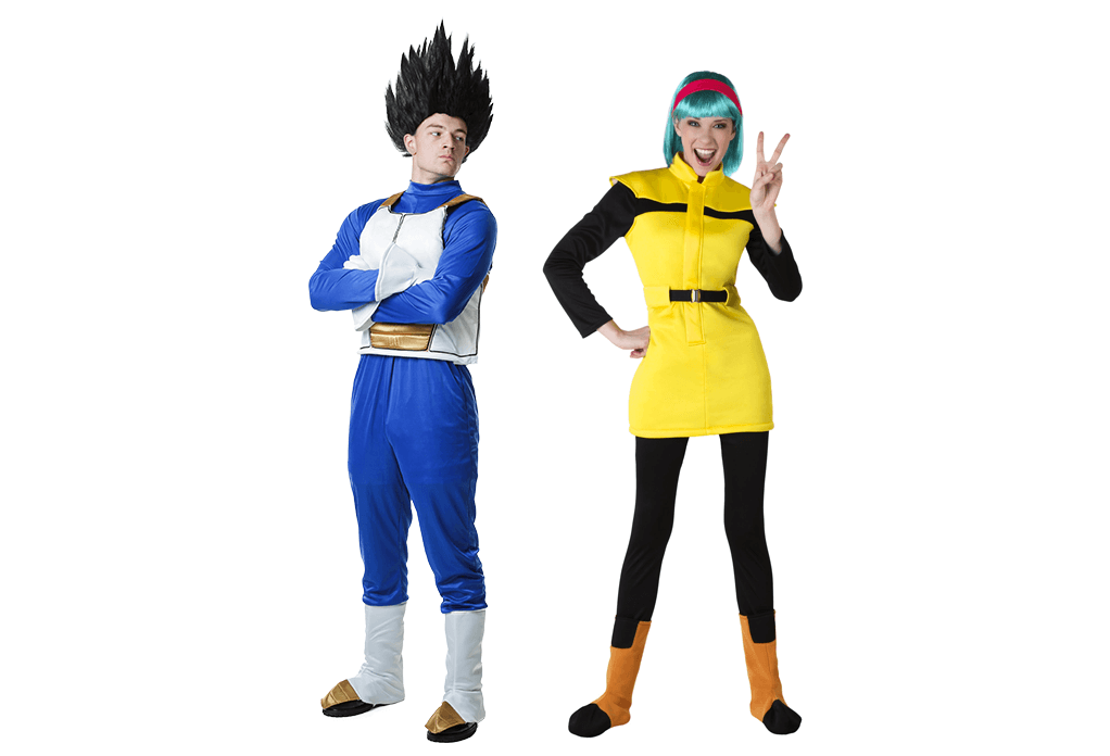 Vegeta and Bulma Couples Costumes Pose