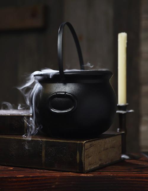 Halloween Fog Machine in a Cauldron