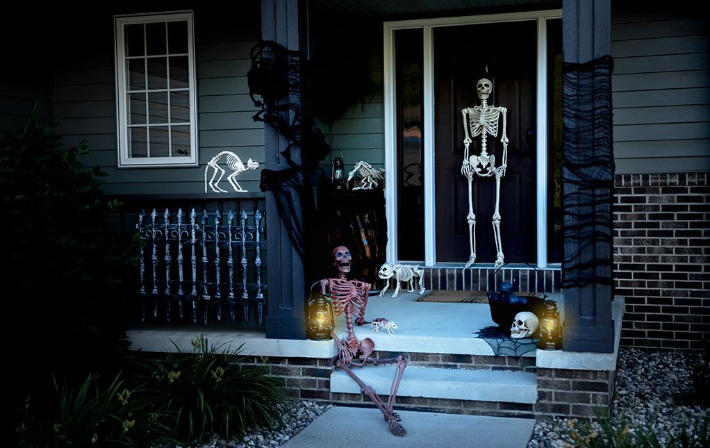 Halloween Skeleton Home Decor Ideas