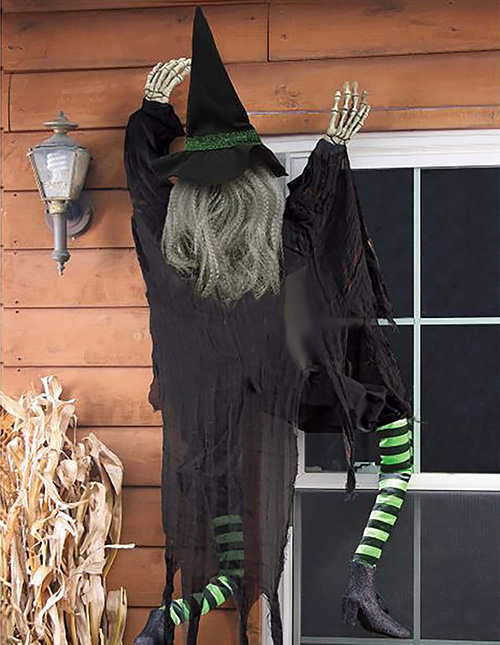 How to hang Halloween decorations outdoors