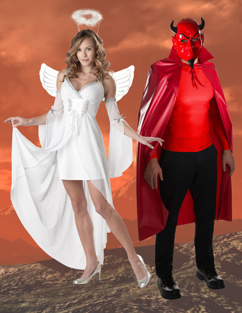 Sexy angel and devil costume