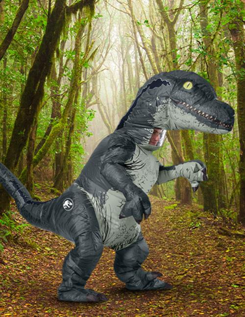 Inflatable Velociraptor Costume