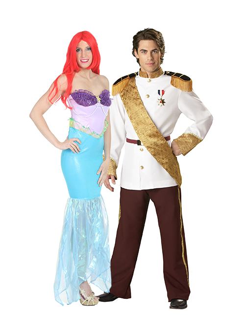Ariel and Eric Couples Costumes