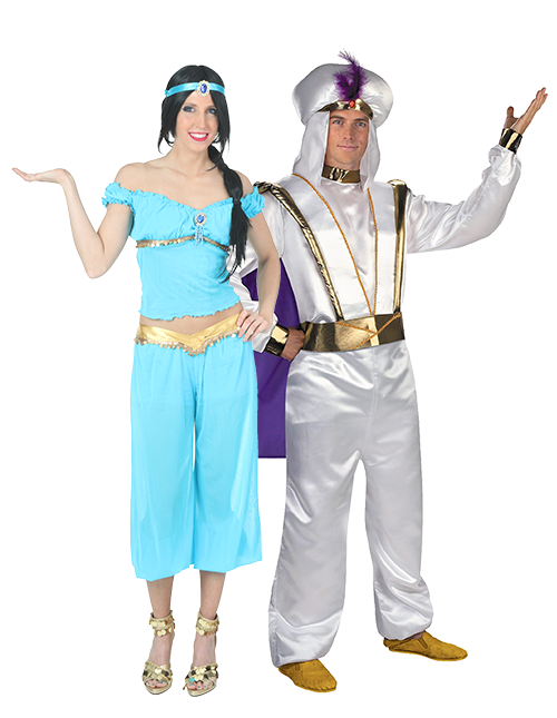 Jasmine and Aladdin Couples Costumes
