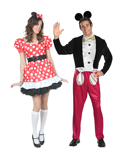 Minnie Mouse and Mickey Mouse Couples Costumes