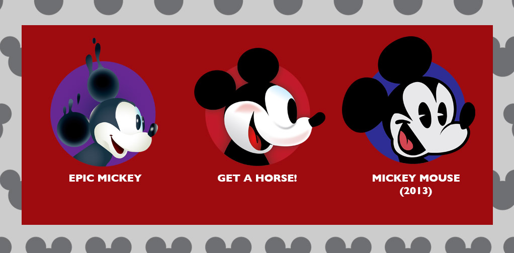 Epic Mickey, Get A Horse, and Mickey Mouse (2013)