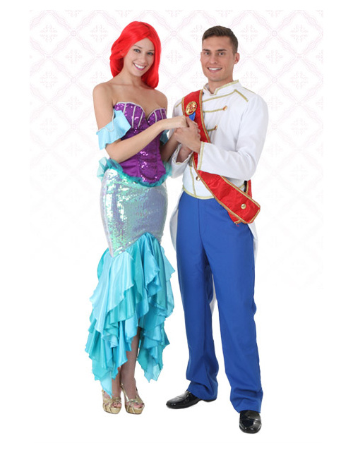 Ariel and Prince Eric Costumes