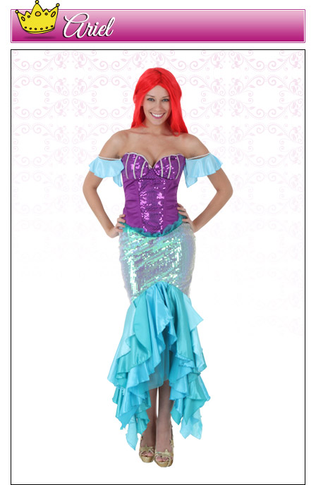 Womens Ariel Costume  sc 1 st  Halloween Costumes : ariel adult halloween costume  - Germanpascual.Com