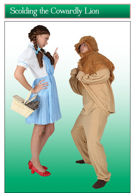Dorothy and Lion Couples Costume Idea