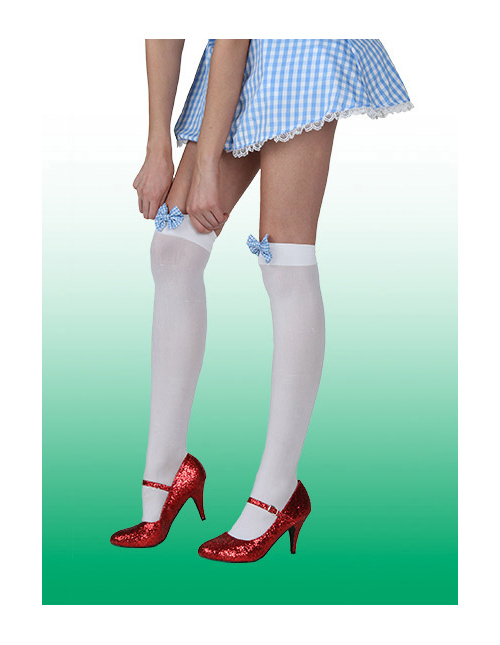 Dorothy Gingham Bow Stockings