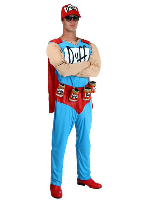 duffman gives the people what they want pose - Simpson Halloween Costume