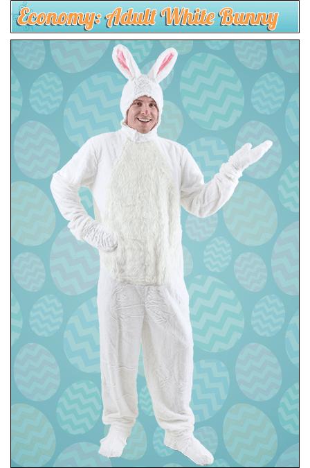 Economy: Adult White Bunny Costume