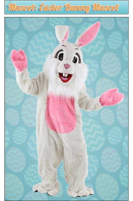 Mascot: Easter Bunny Mascot Costume