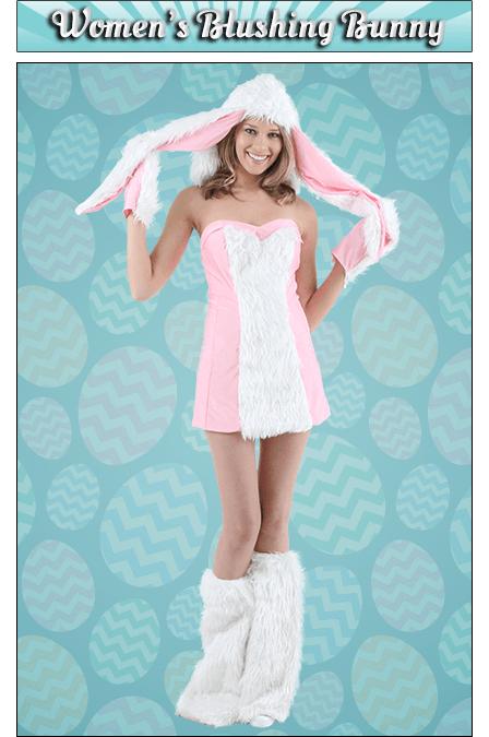 Women's Blushing Bunny Costume