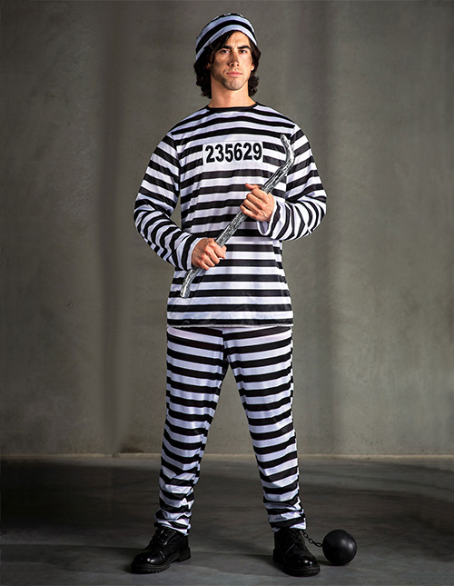 Exclusive Men's Prisoner Costume