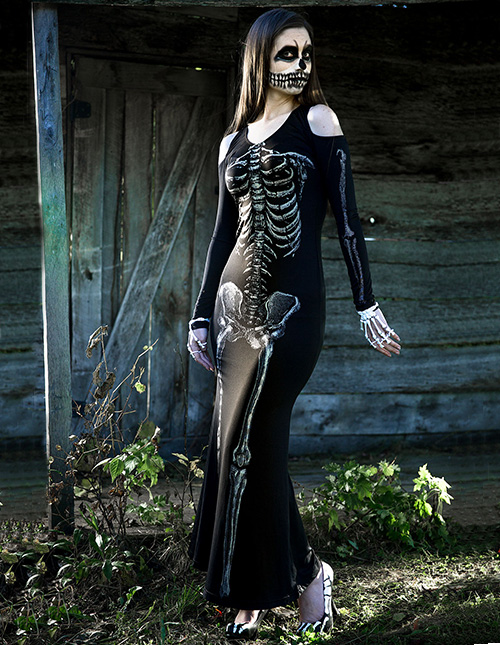 Exclusive Skeleton Costume for Women