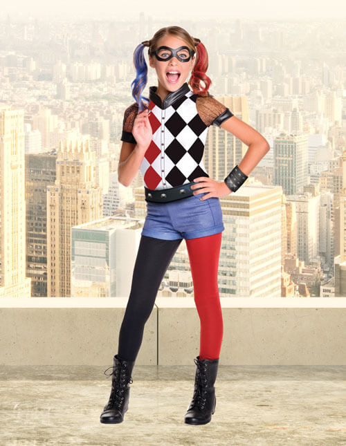 Harley Quinn Girl Costume