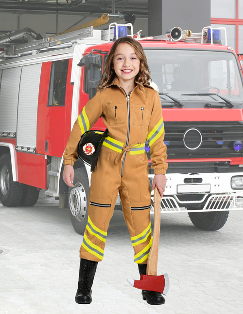Girls' Firefighter Costume
