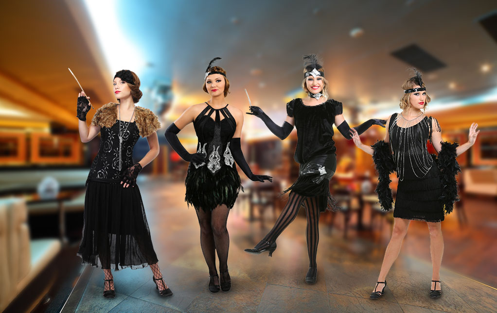 Black Flapper Costumes