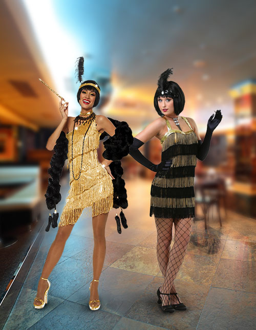 Gold Flapper Costumes