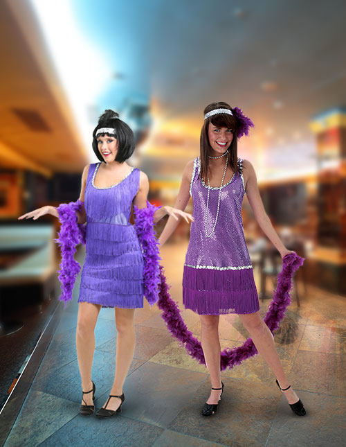 Purple Flapper Costumes