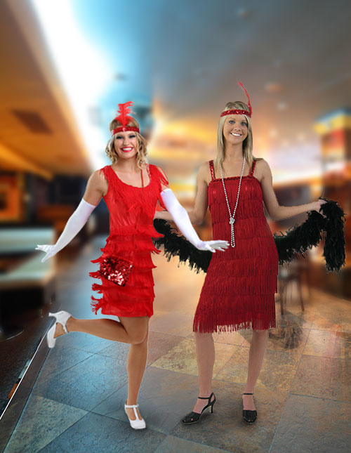 Red Flapper Costumes