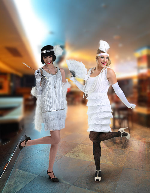 White Flapper Costumes
