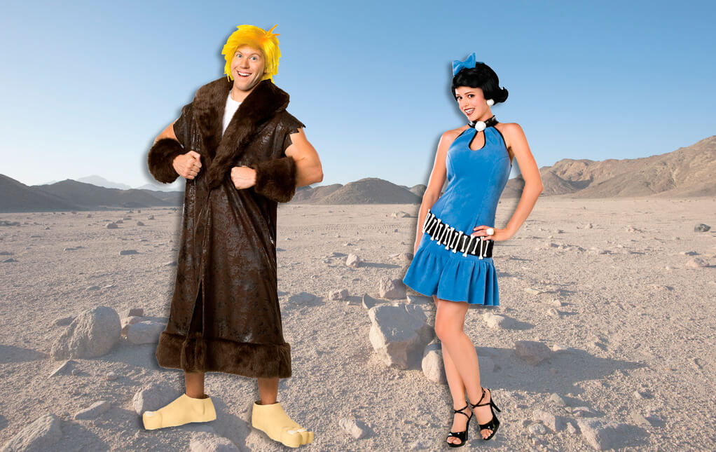 Barney and Betty Rubble Costumes