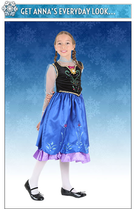 Girls Anna Costume Dress