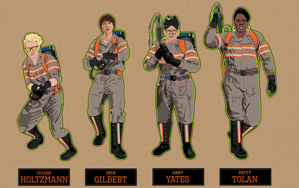 Ghostbusters 2016 Characters