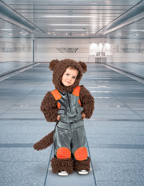Rocket Raccoon Costume for Toddler