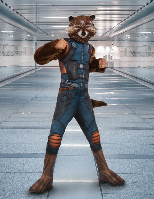 Rocket Raccoon Costume